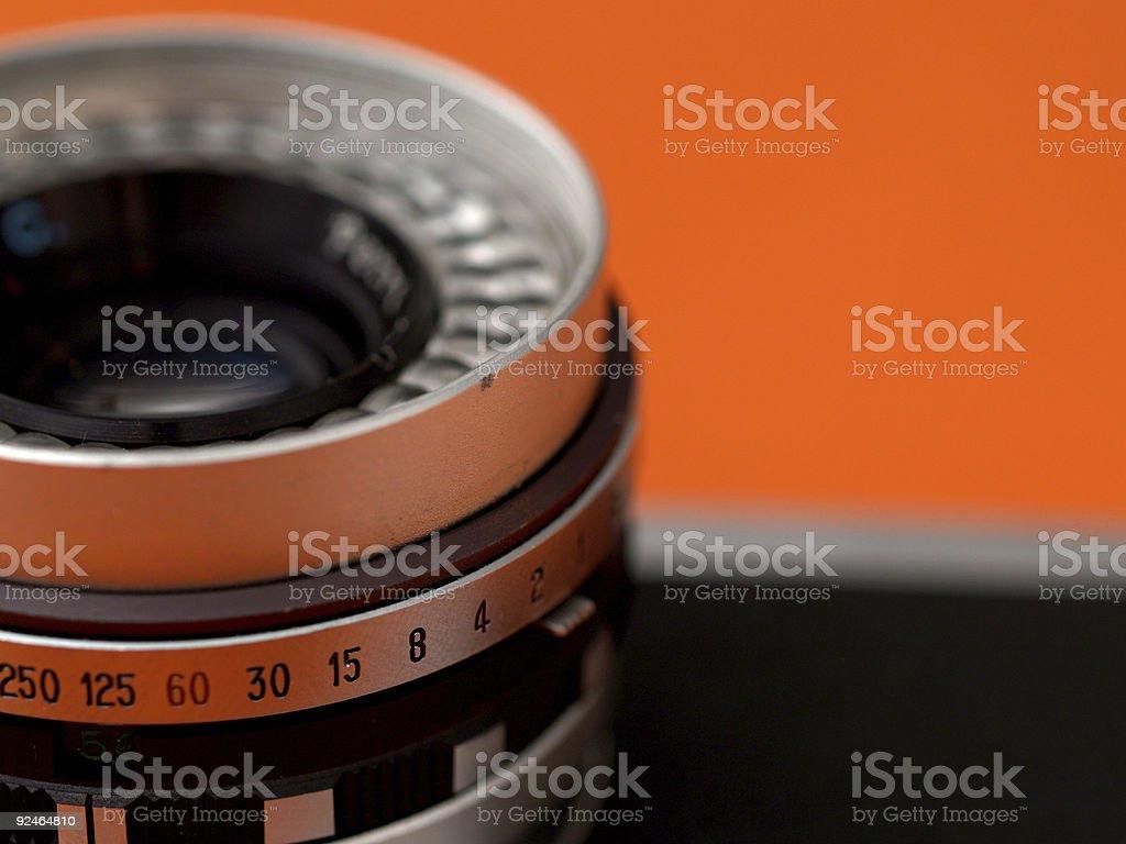 Rangefinder lens royalty-free stock photo