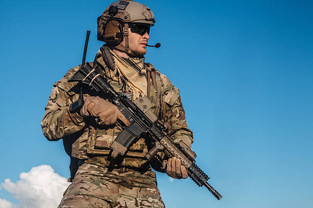 ranger in the mountains - soldier stock photos and pictures