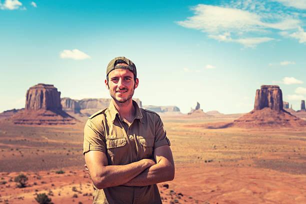 Ranger smiling on the Tribal National Park - Monument valley http://blogtoscano.altervista.org/mv.jpg park ranger stock pictures, royalty-free photos & images