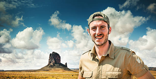 Ranger smiling on the Tribal National Park Ranger smiling park ranger stock pictures, royalty-free photos & images