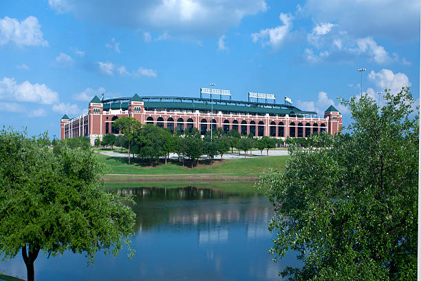 Rangers Ballpark in Arlington, Texas stock photo