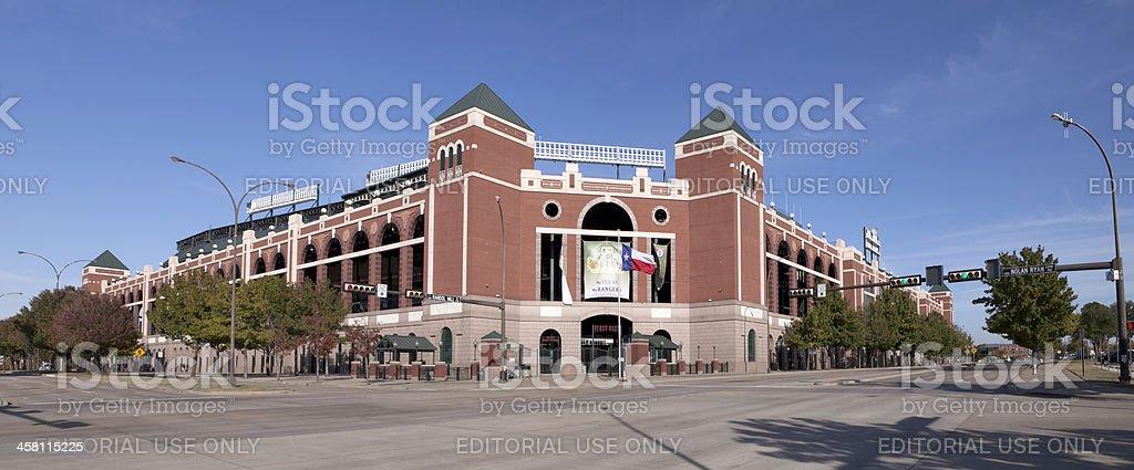 Rangers Ballpark in Arlington, Texas (panoramic) stock photo