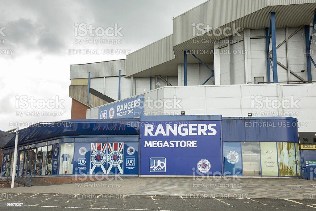 JJB Rangers Megastore at Ibrox Stadium, Glasgow stock photo