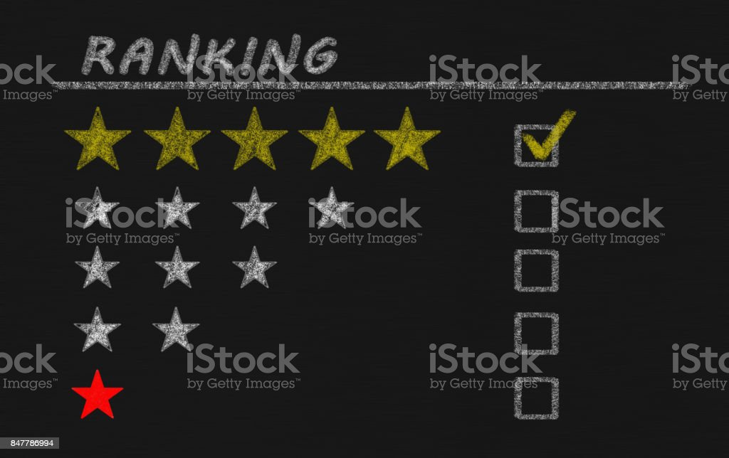 ranking stars stock photo