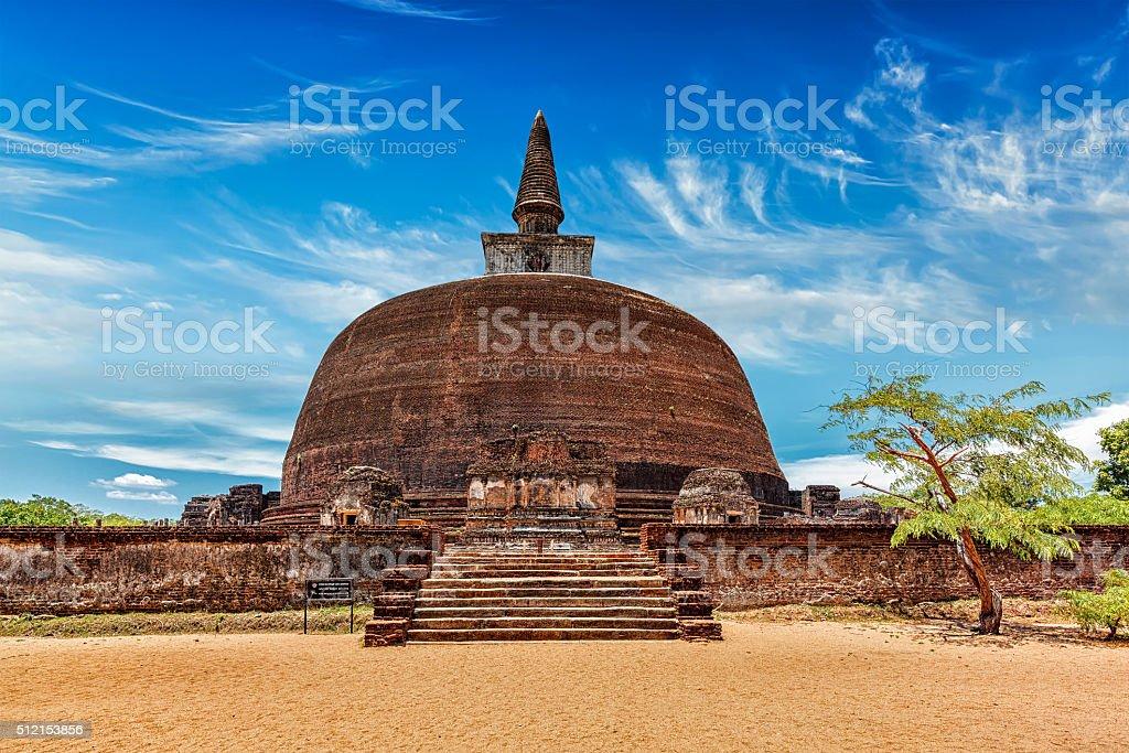 Rankot Vihara, Pollonaruwa, Sri Lanka royalty-free stock photo