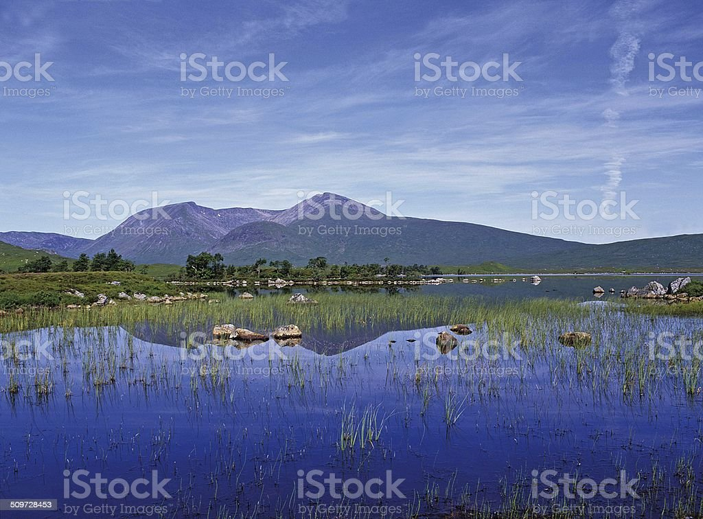 Rannoch Moor and Clachlet stock photo