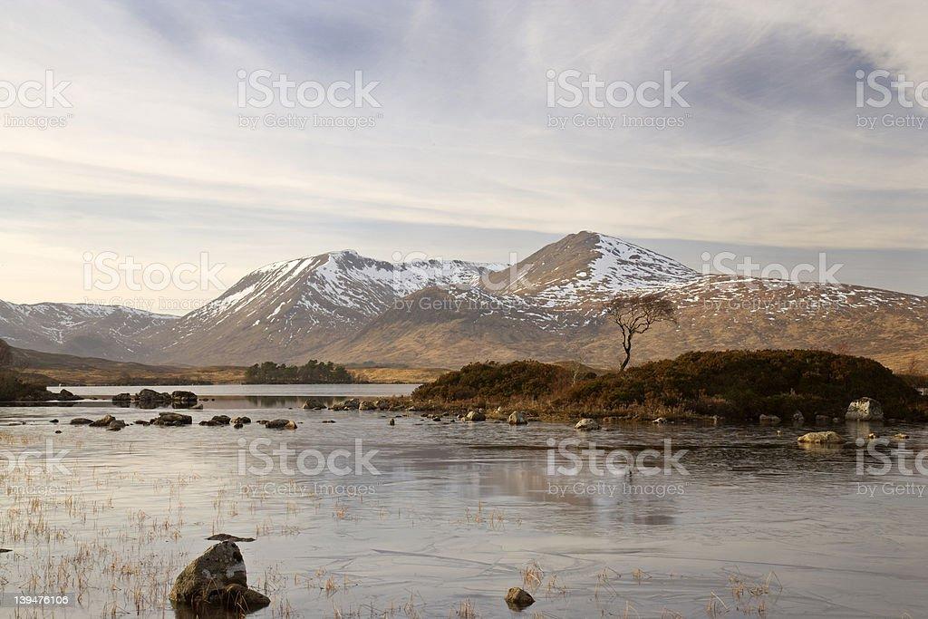 Rannoch Moor in Winter royalty-free stock photo