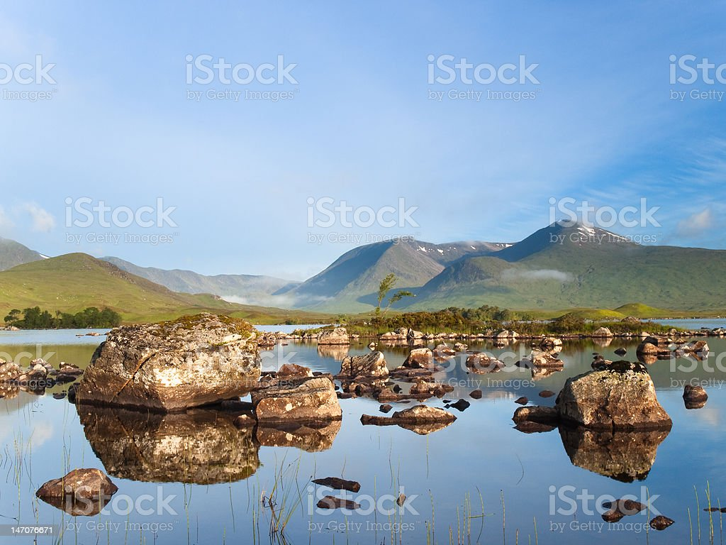 Rannoch Moor, Scottish Highlands royalty-free stock photo