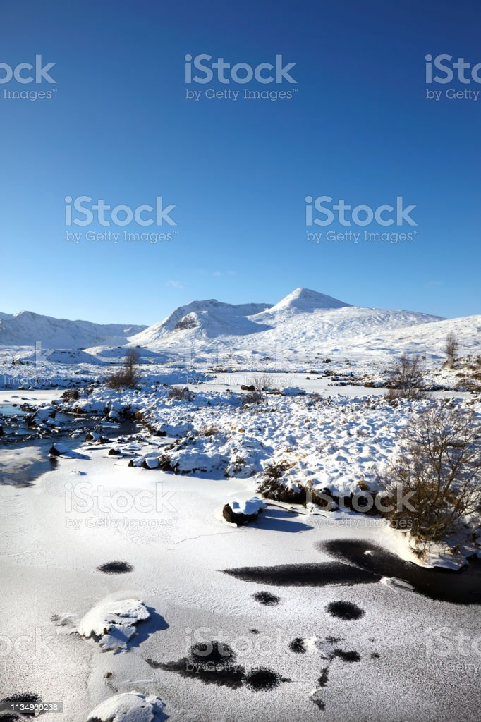 Rannoch Moor, Scottish Highlands, Scotland, UK stock photo