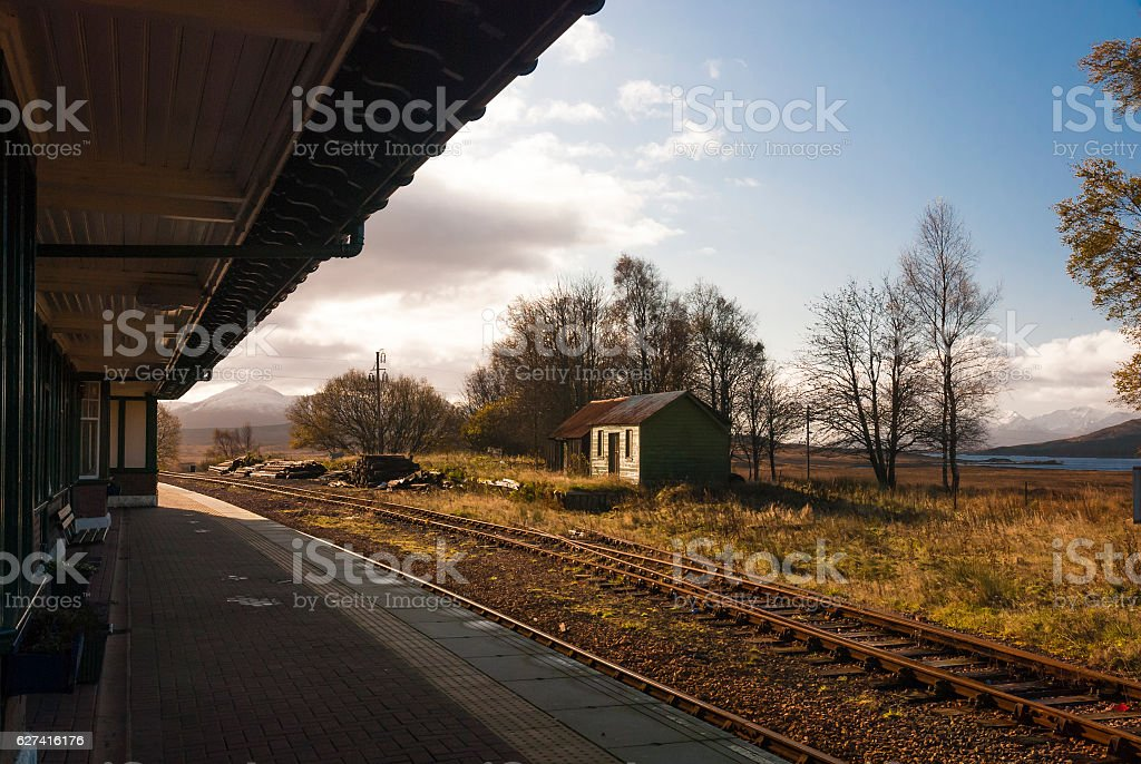 Rannoch Station stock photo