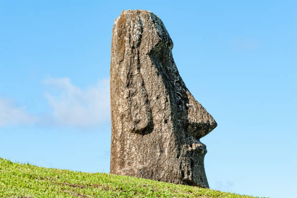 Rano Raraku, Easter Island, the quarry of the Moai.