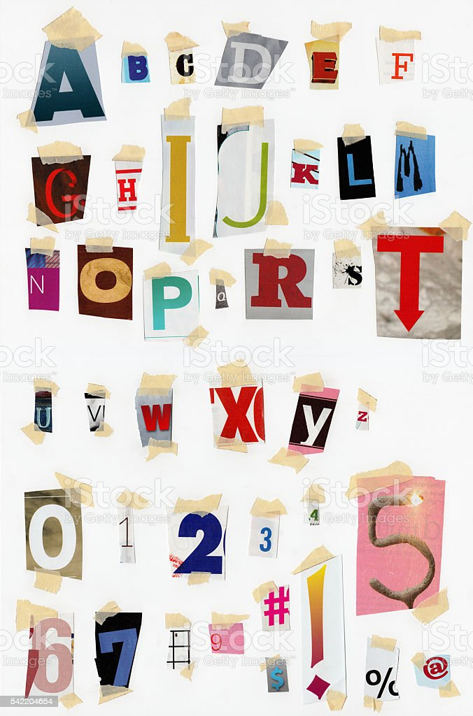 Ransom Font stock photo