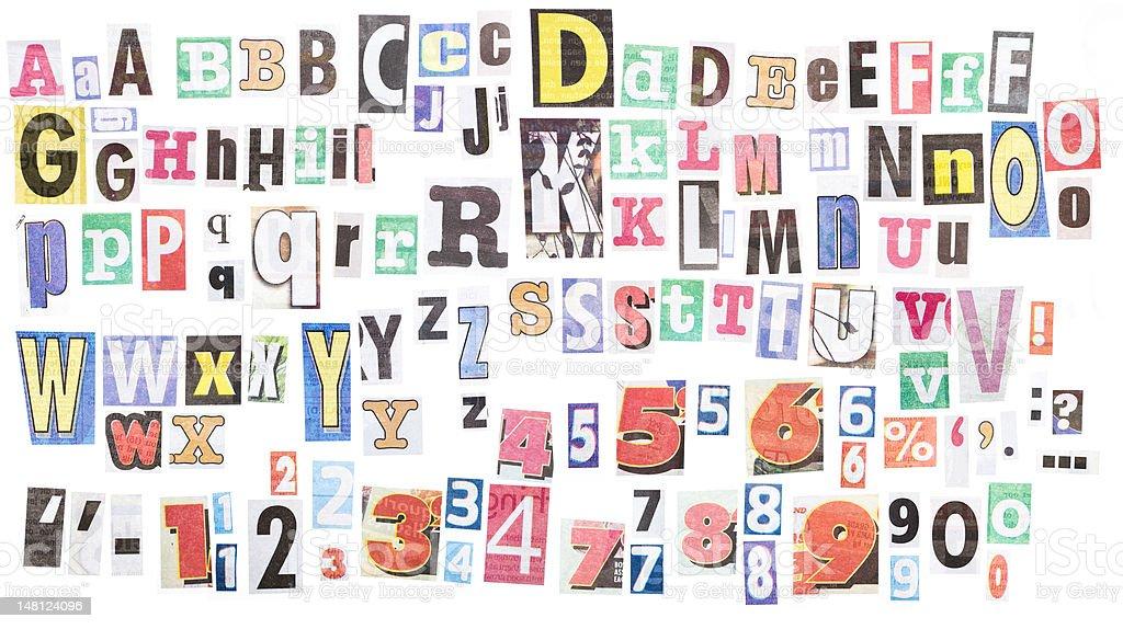 Ransom note alphabets XXXL royalty-free stock photo