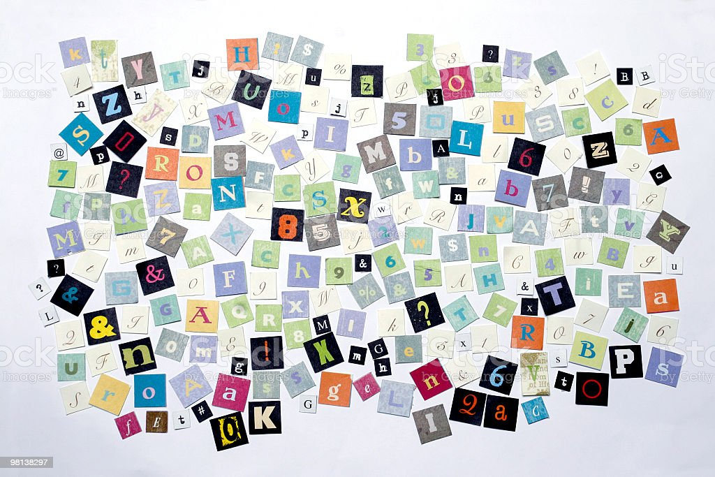 Ransom note letters royalty-free stock photo