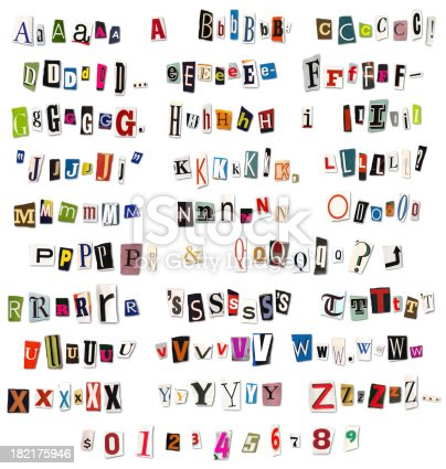 istock Ransom Note Magazine and Newspaper Cutouts 182175946