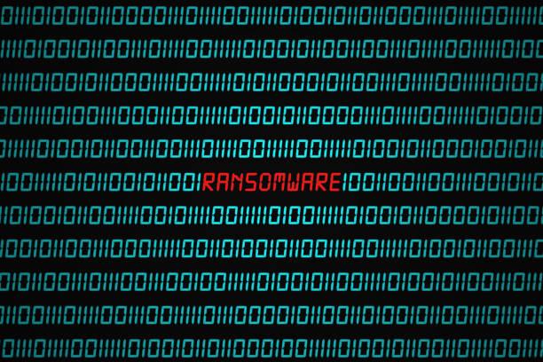 Ransomware attack stock photo