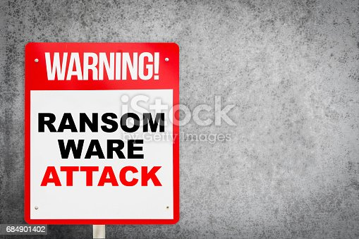 812847754 istock photo Ransomware Attack warning on concrete copy space 684901402