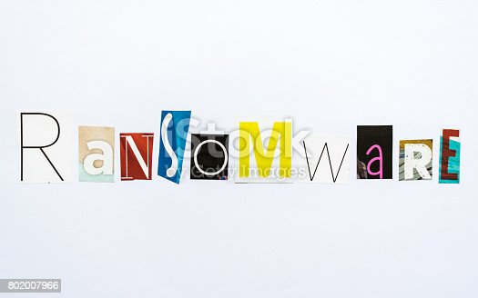 istock Ransomware - note 802007966