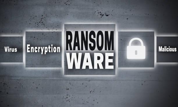 Ransomware Touchscreen Konzept Hintergrund – Foto