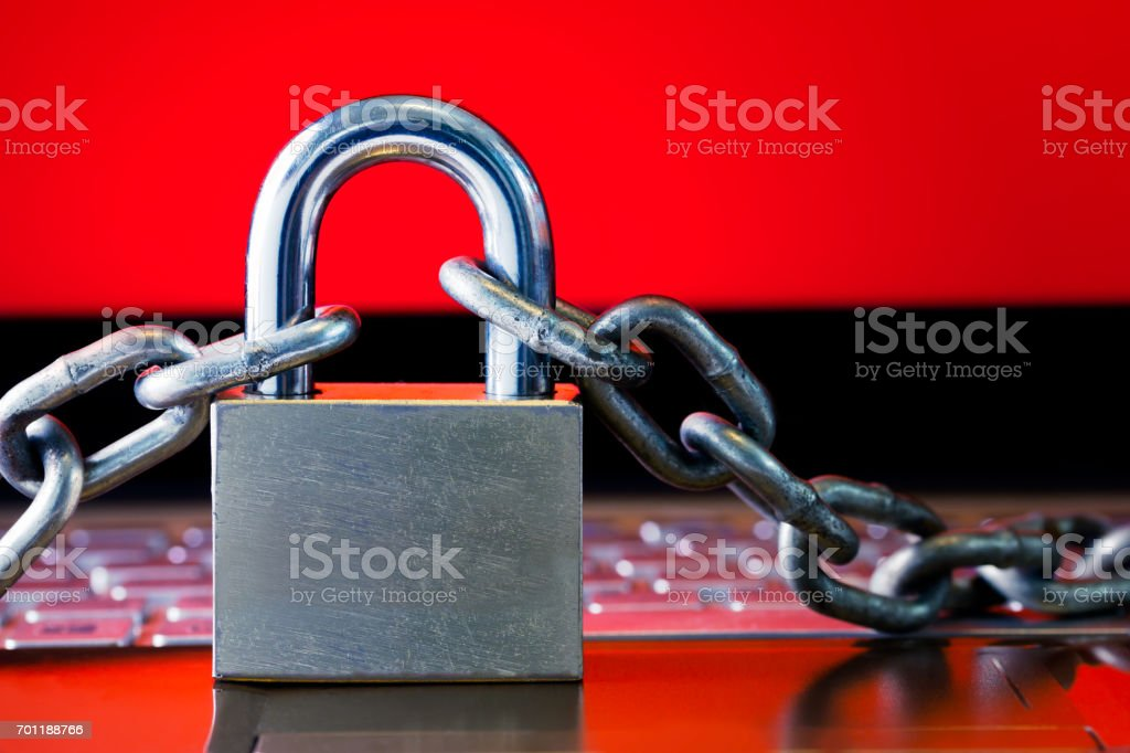 Ransomware,Malware,Encrypt and Hacking Conceptual with Padlock. royalty-free stock photo