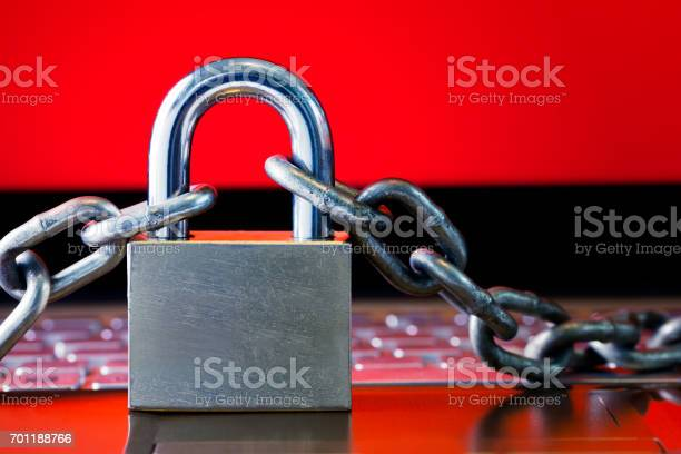 Ransomwaremalwareencrypt And Hacking Conceptual With Padlock Stock Photo - Download Image Now