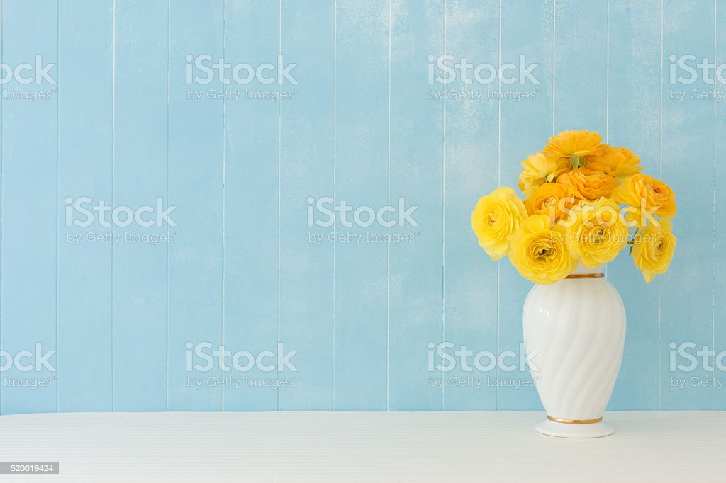 Ranunculus flowers stock photo