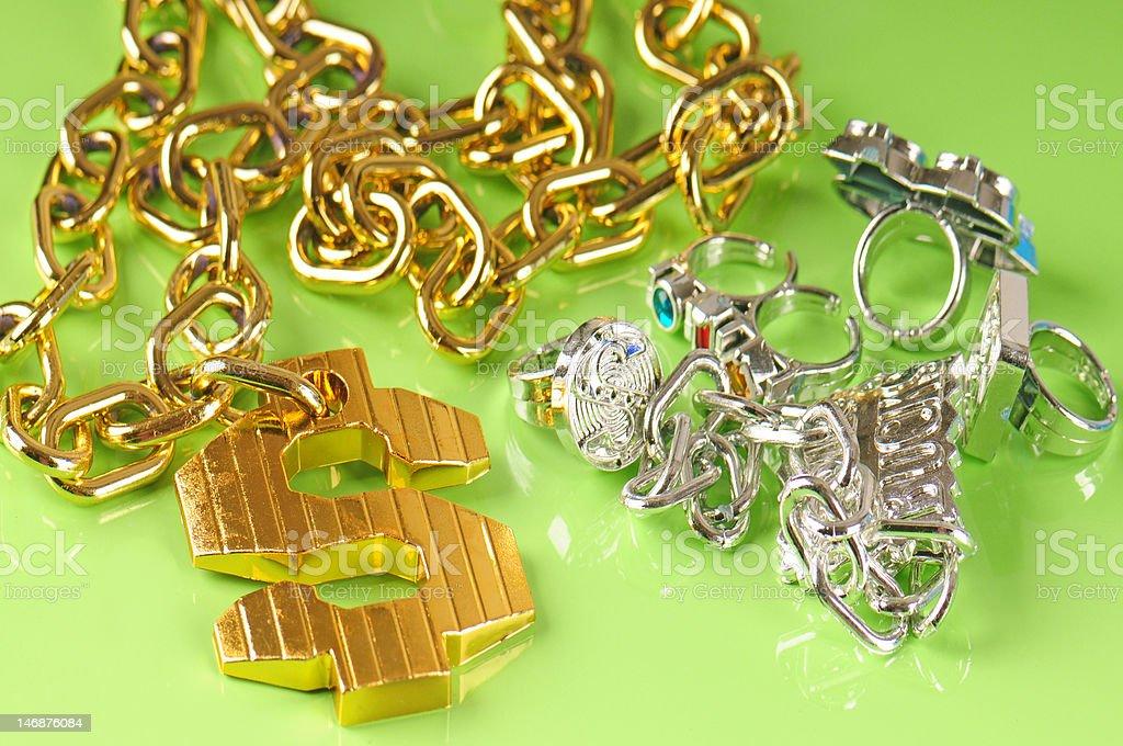 rap jewelry stock photo