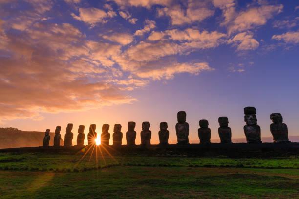 rapanui - osterinsel stock-fotos und bilder