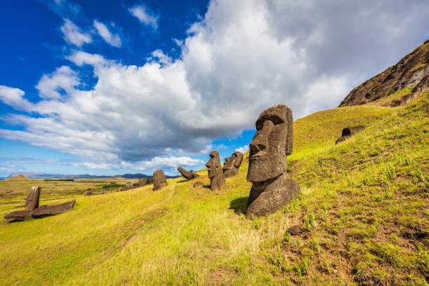 Rapa Nui Rano Raraku Moai Statues Easter Island