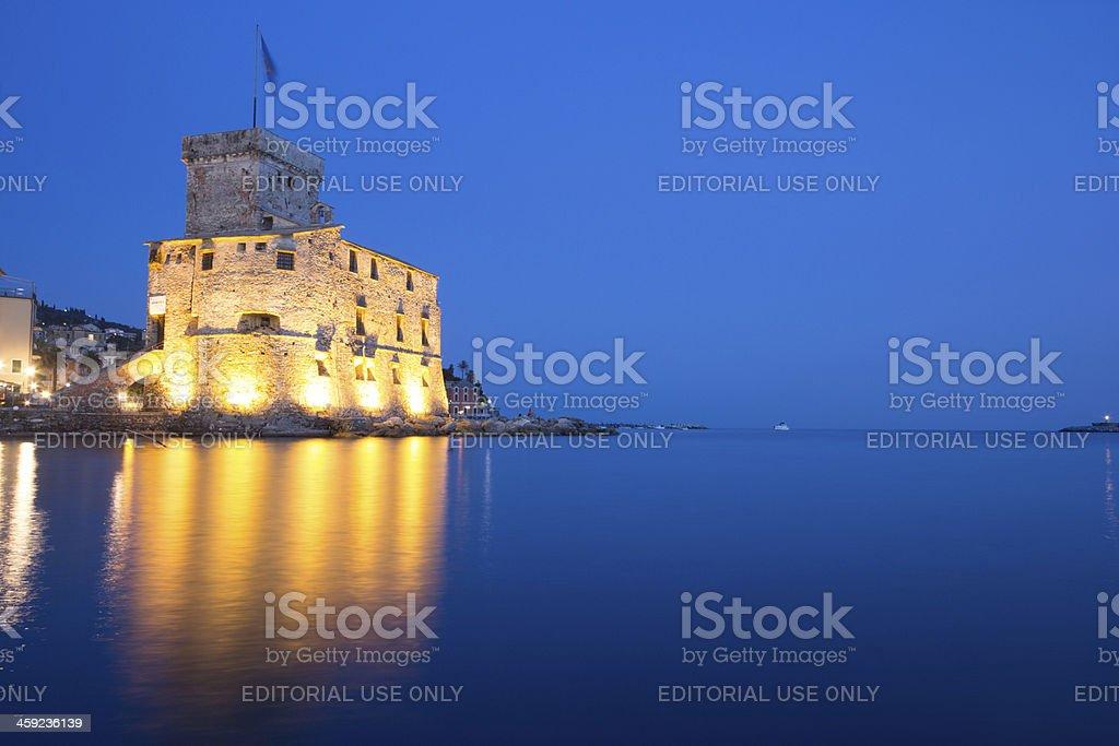 Rapallo Castle in Liguria, Italy royalty-free stock photo