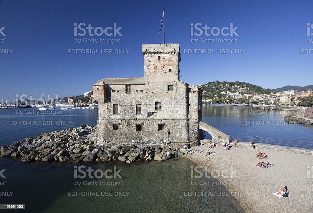 Rapallo Castle on the Riviera di Levante, Italy royalty-free stock photo