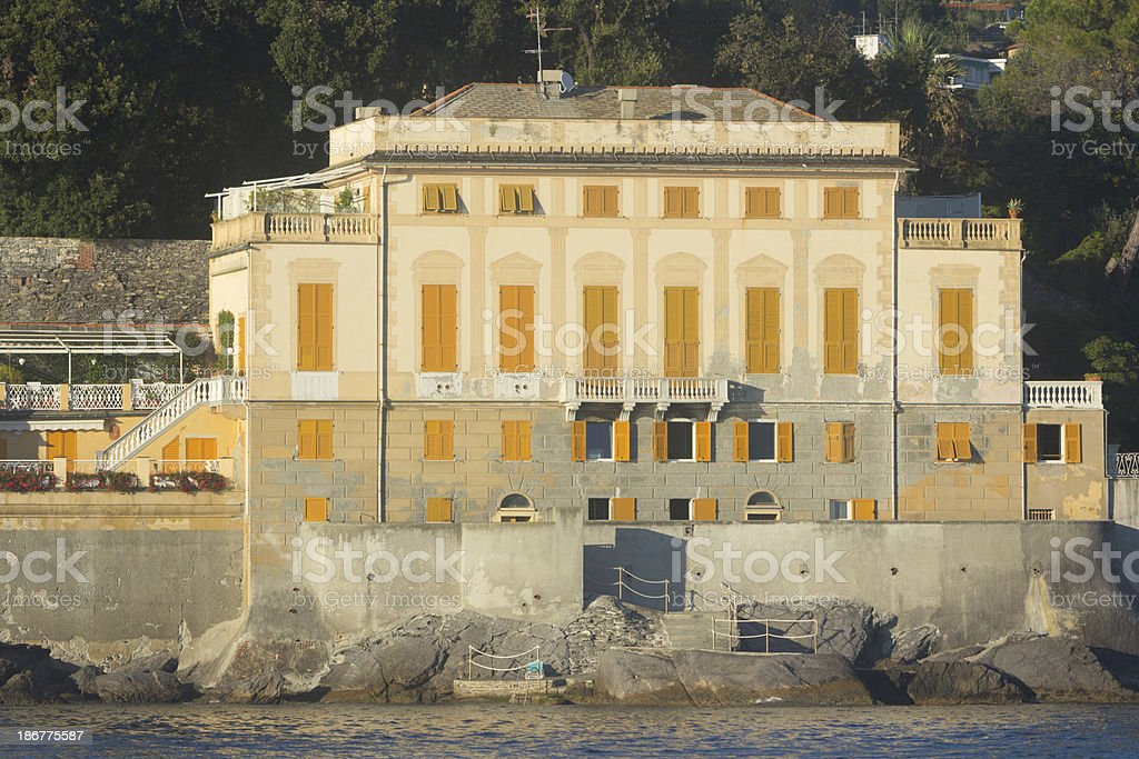 Rapallo on the Riviera di Levante, Italy royalty-free stock photo