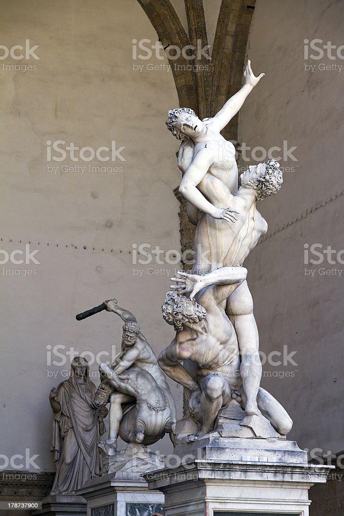 Rape of the Sabine Women stock photo