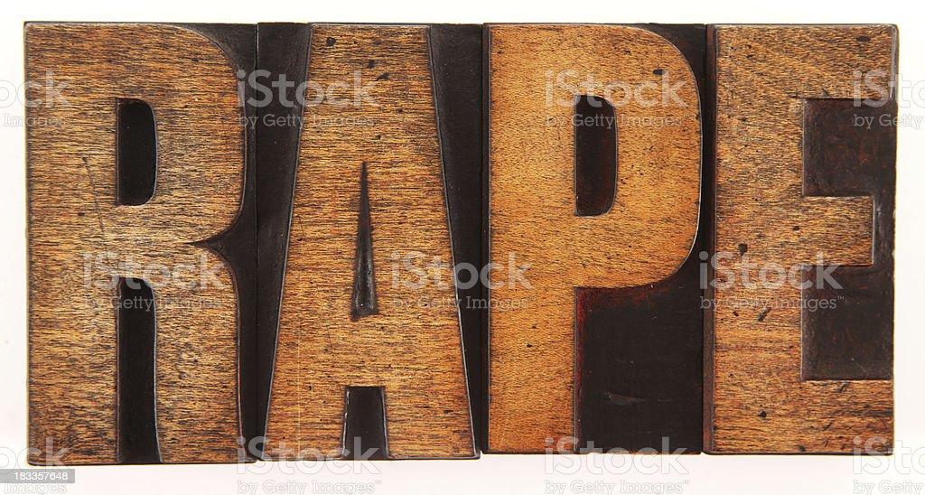 Rape royalty-free stock photo