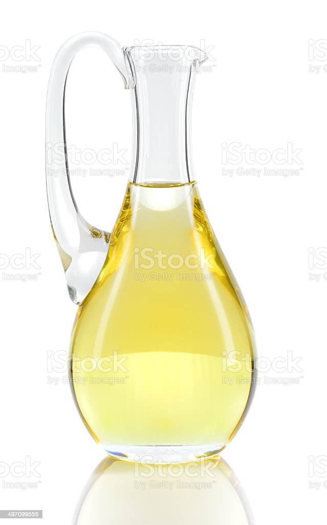 Rapeseed oil isolated over white. stock photo