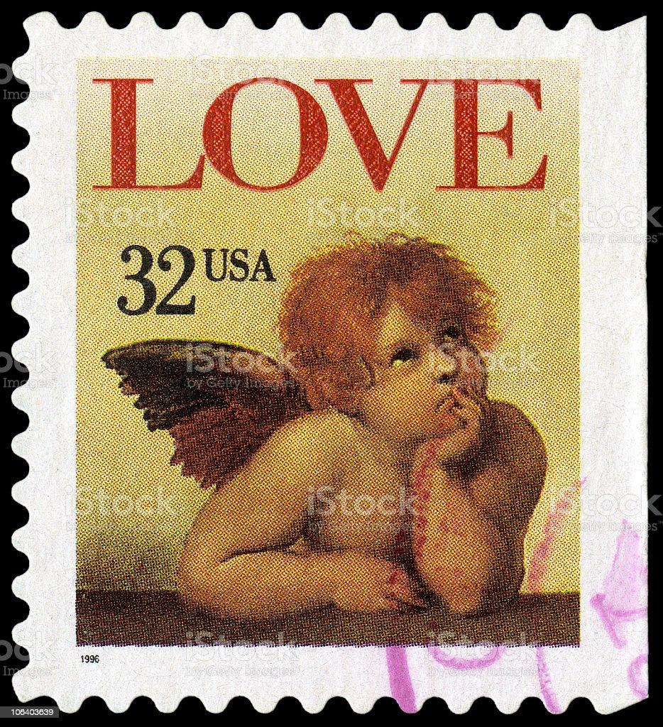 Raphael's Sistine Madonna Love Cherub stock photo