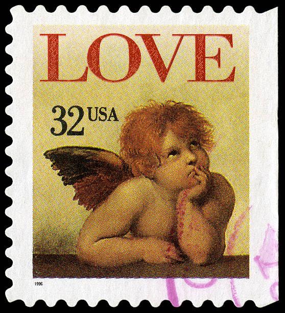 Raphael'madona de la sixtina Love querubín - foto de stock