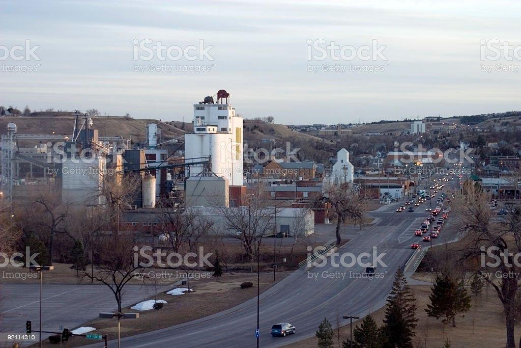 Rapid City Skyline stock photo