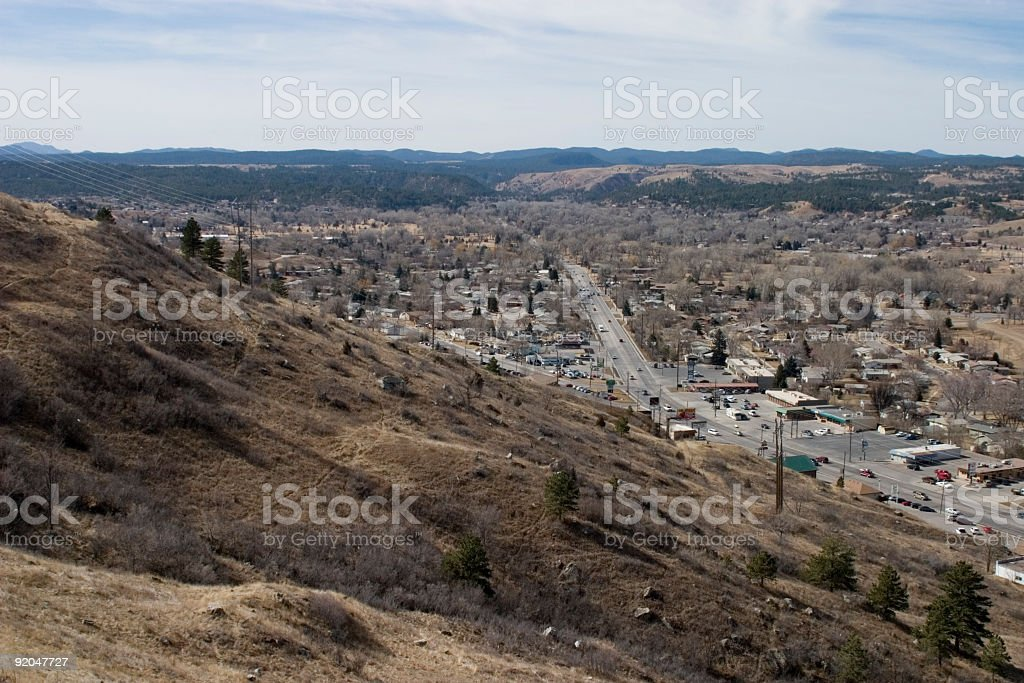 Rapid City South Dakota and the Black Hills royalty-free stock photo