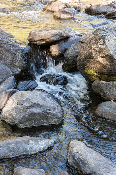 Rapid flow of the Chulcha river near Uchar waterfall – Foto