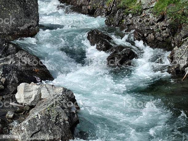 Photo of Rapid river in mountains