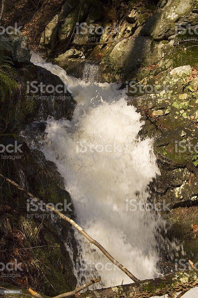 rapid stream among rocks royalty-free stock photo