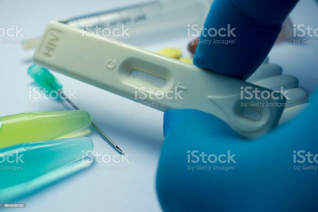 HIV Rapid Test stock photo