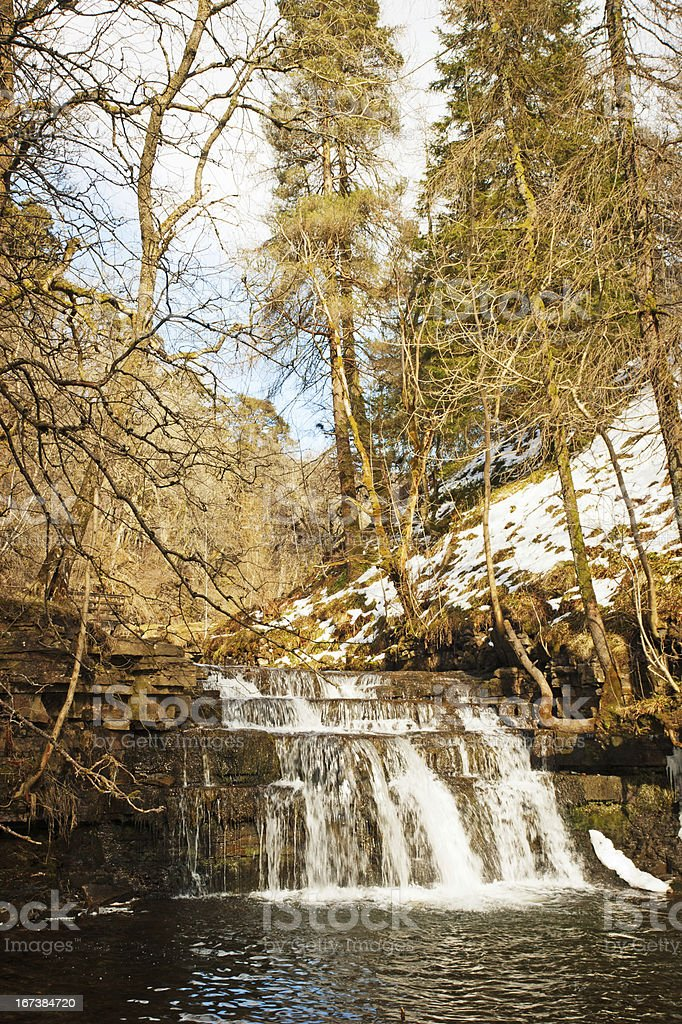 Rapids below Ashgill Force Waterfall Cumbria royalty-free stock photo