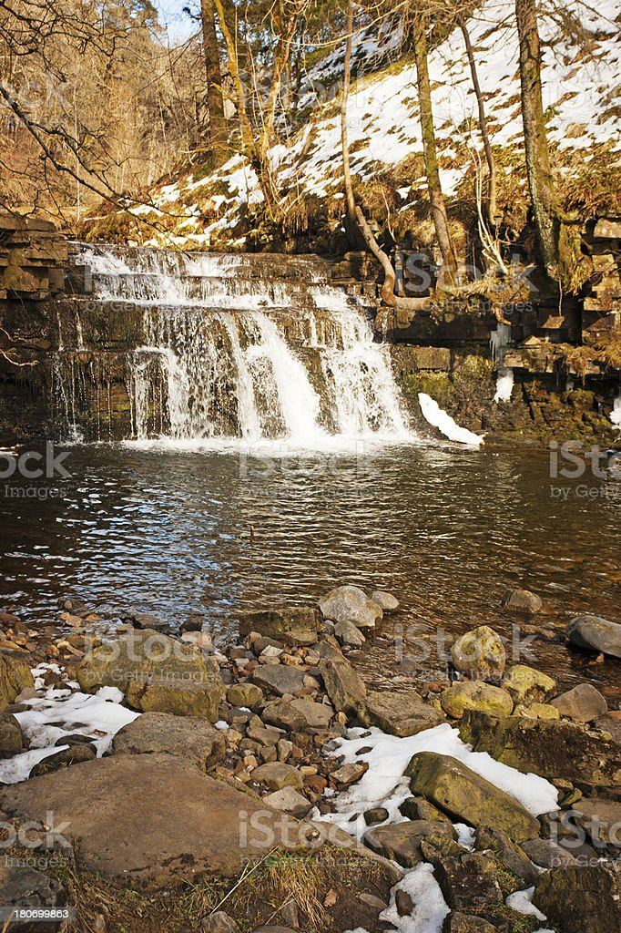 Rapids below Ashgill Force Waterfall Cumbria stock photo
