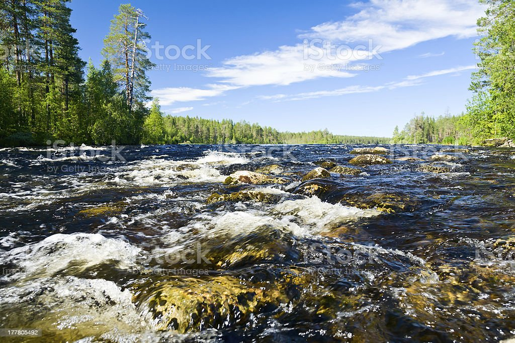 Rapids on a river royalty-free stock photo