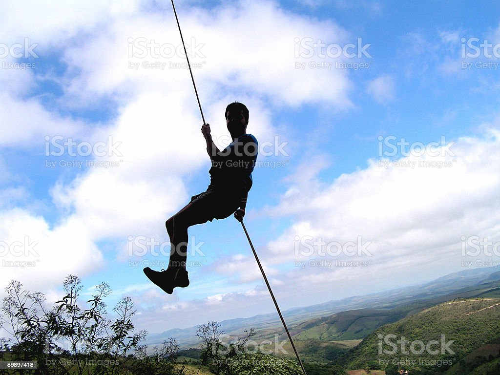 Rappel in the nature royalty-free stock photo