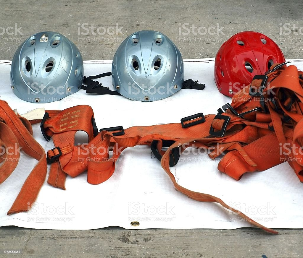 Rappel or Abseil Equipment royalty-free stock photo