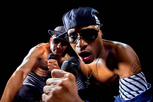 Rappers Hip Hop Concert stock photo