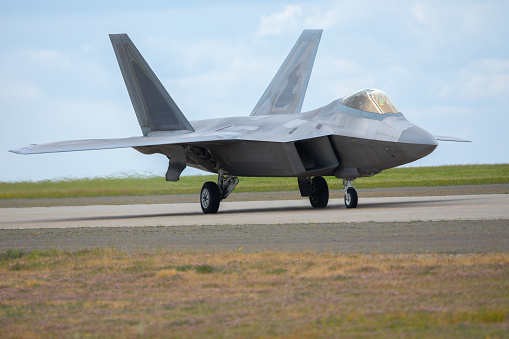 F22 Raptor At Take Off Stock Photo - Download Image Now